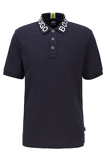 Polo regular fit avec col logoté