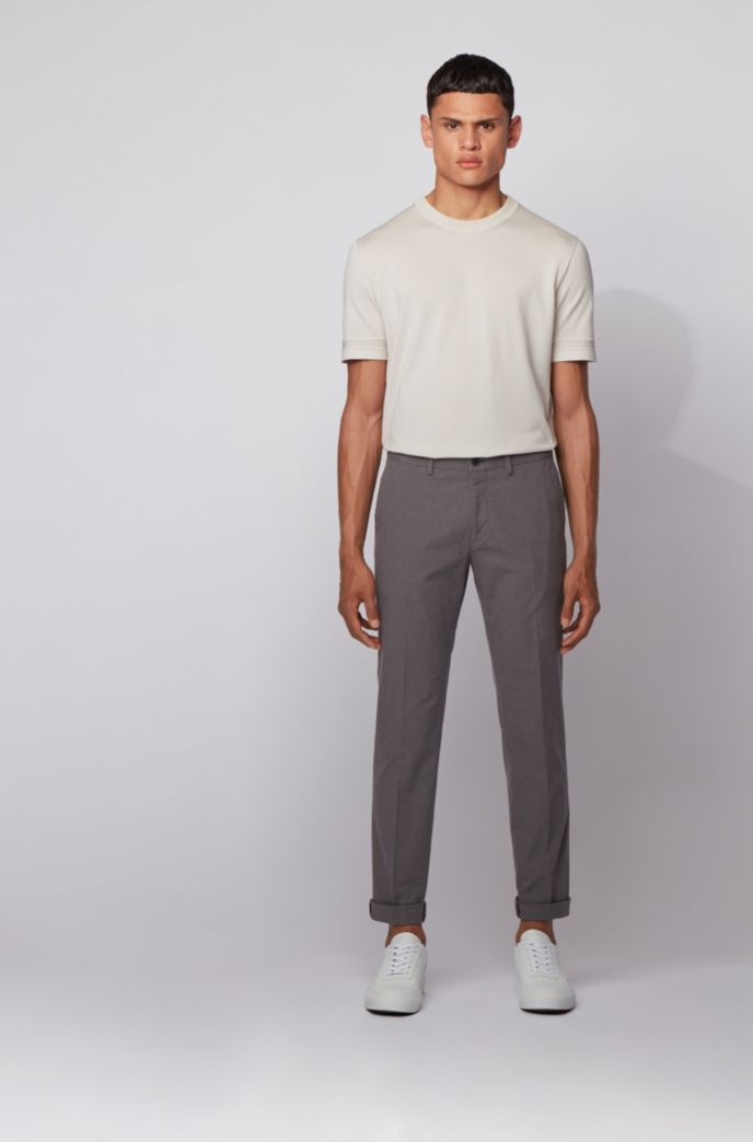 Extra-slim-fit trousers in washable stretch cotton