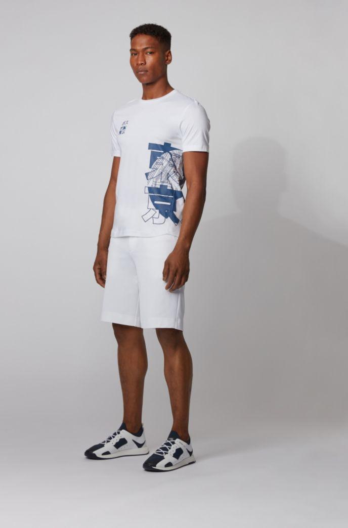 T-shirt Slim Fit en coton biologique avec motif artistique Tokyo