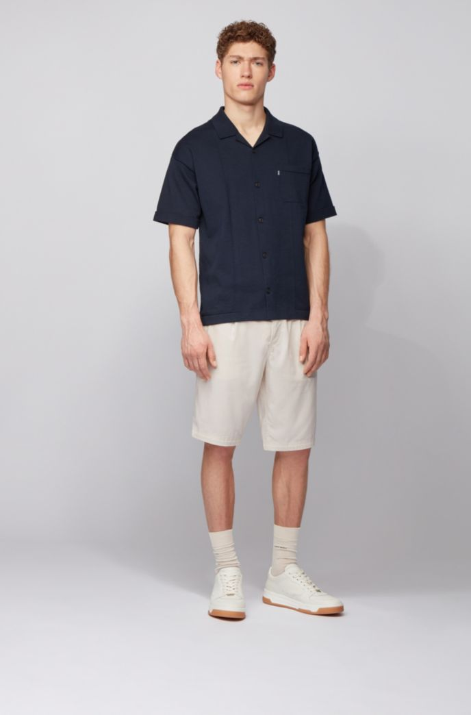 Tapered-fit shorts with drawstring waistband