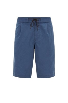 Tapered-fit shorts with drawstring waistband, Dark Blue