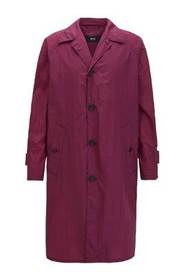 Regular-fit mantel van waterafstotend materiaal, Donkerroze