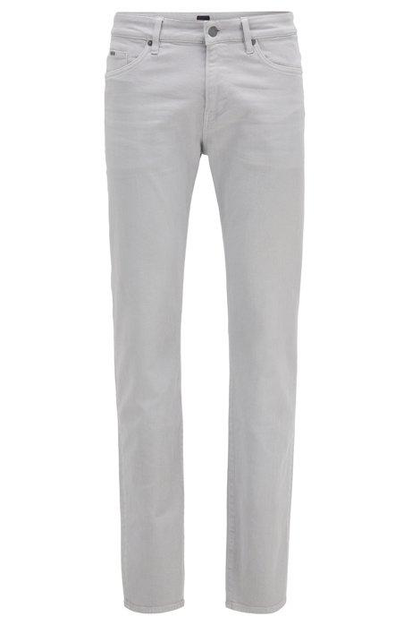 Slim-fit jeans in super-soft Italian stretch denim, Open Grey