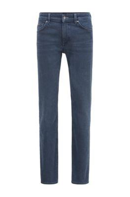 Jeans slim fit in denim blu scuro italiano, Blu