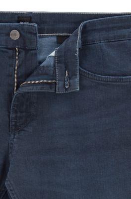Hugo BOSS C-Delaware 1 Stretch Regular Slim Fit pure Denim Jeans Uomo Green