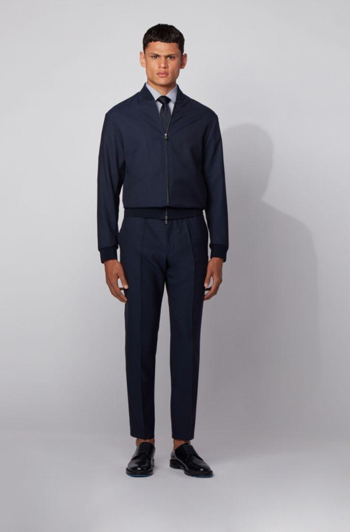 Camicia slim fit a righe sottili in cotone italiano