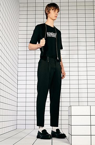 Recot²® 棉标语印花男女同款 T 恤,  001_黑色