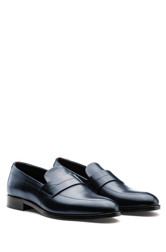 Polished-leather loafers with modern vamp