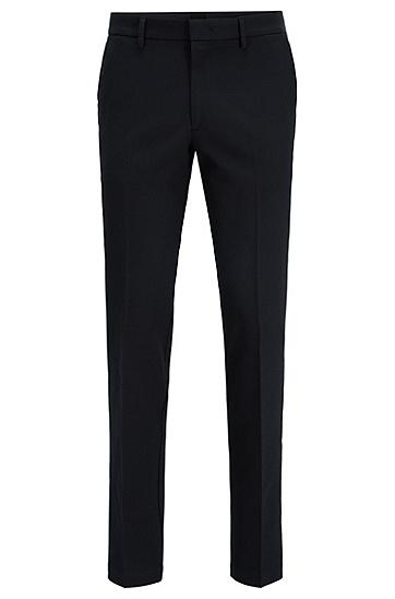 男士双面弹力棉修身斜纹布裤,  402_暗蓝色