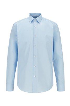 Camisa regular fit en algodón austriaco de planchado fácil, Celeste