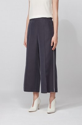 Wide-legged jogging trousers in a sand-washed modal blend, Light Blue