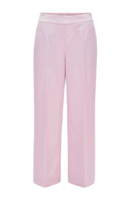 Wide-legged jogging trousers in a sand-washed modal blend, Light Purple