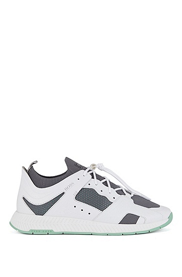 皮革鞋帮徒步训练鞋,  123_淡白色