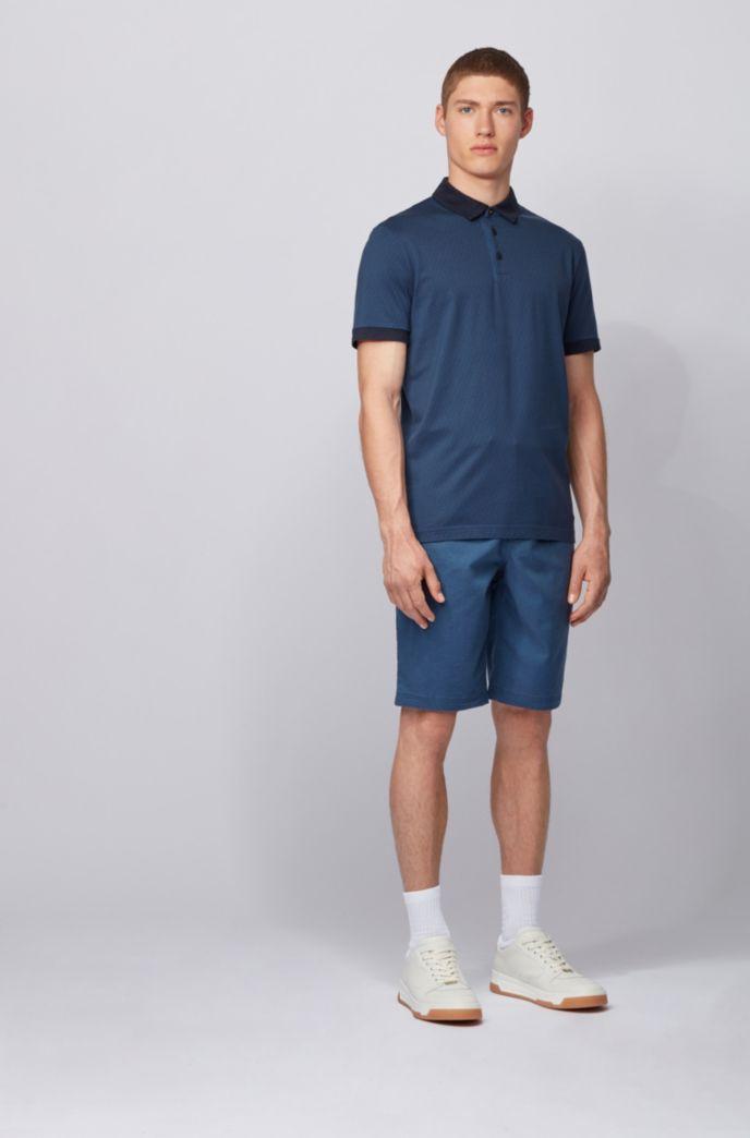 Polo in jersey di cotone con logo stampato