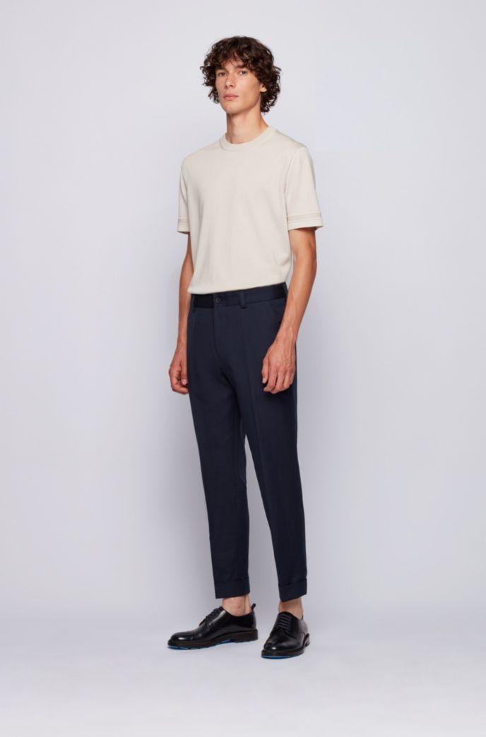 Relaxed-Fit Hose aus Baumwolle mit Leinen in Cropped-Länge