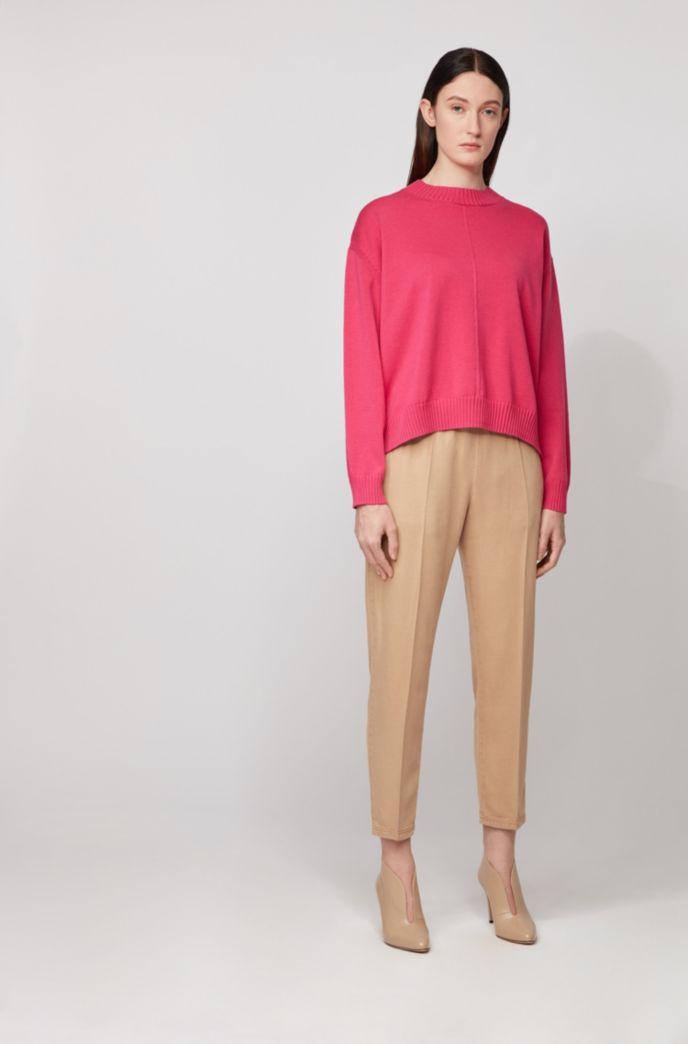 Jersey oversize fit en mezcla de algodón con diferentes estructuras