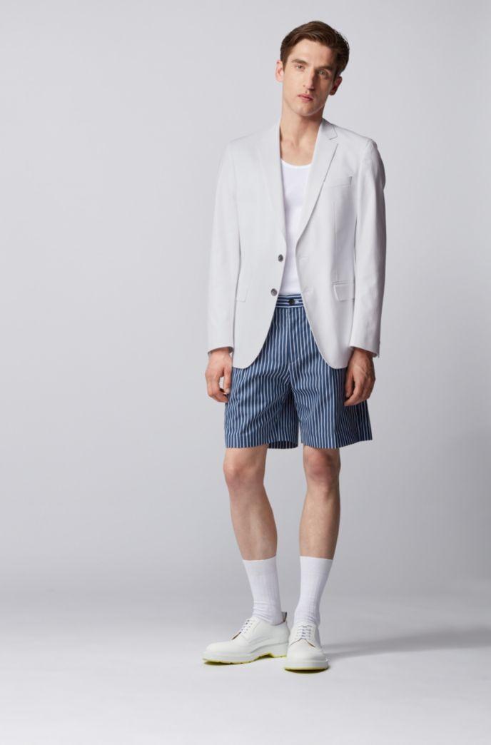 Slim-Fit Sakko aus Stretch-Baumwolle mit dezentem Muster