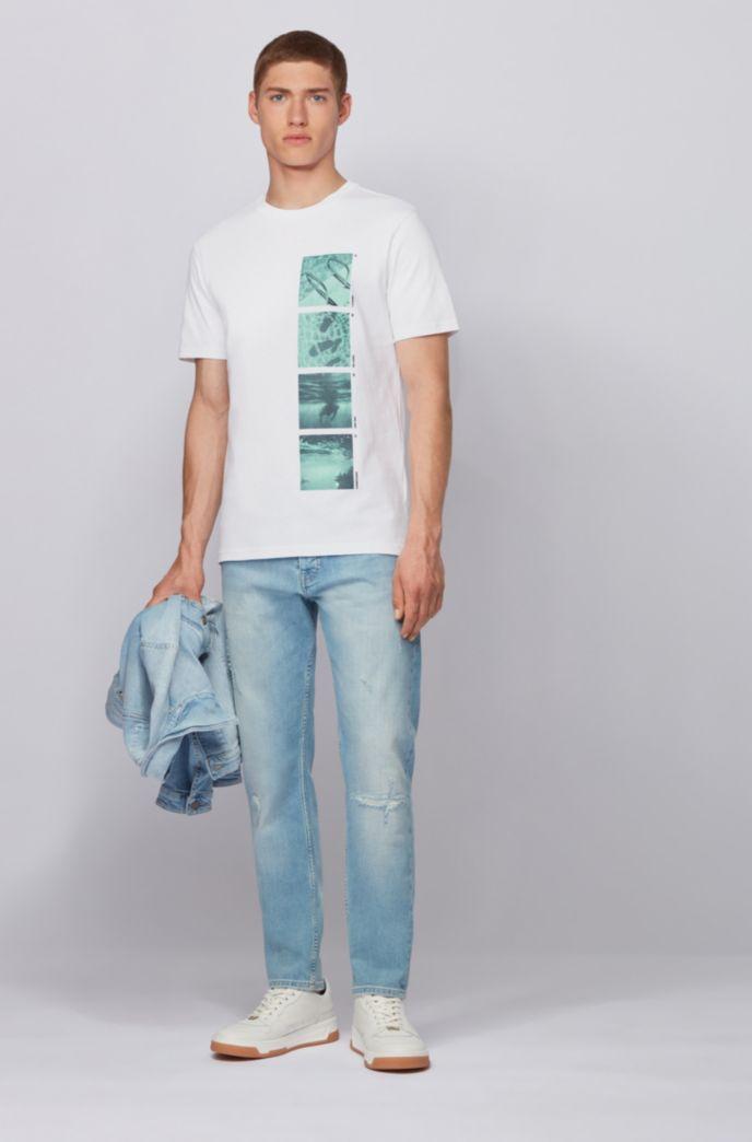 Komplett recycelbares T-Shirt aus Baumwolle mit Foto-Print