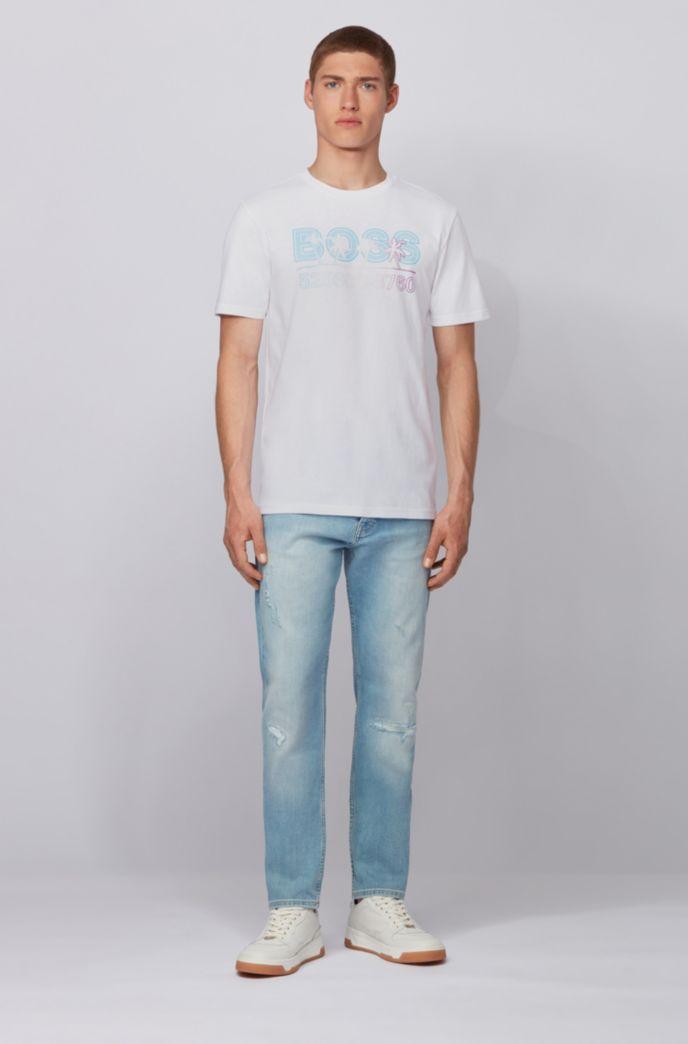 Komplett recycelbares T-Shirt aus Baumwoll-Jersey mit Logo-Print