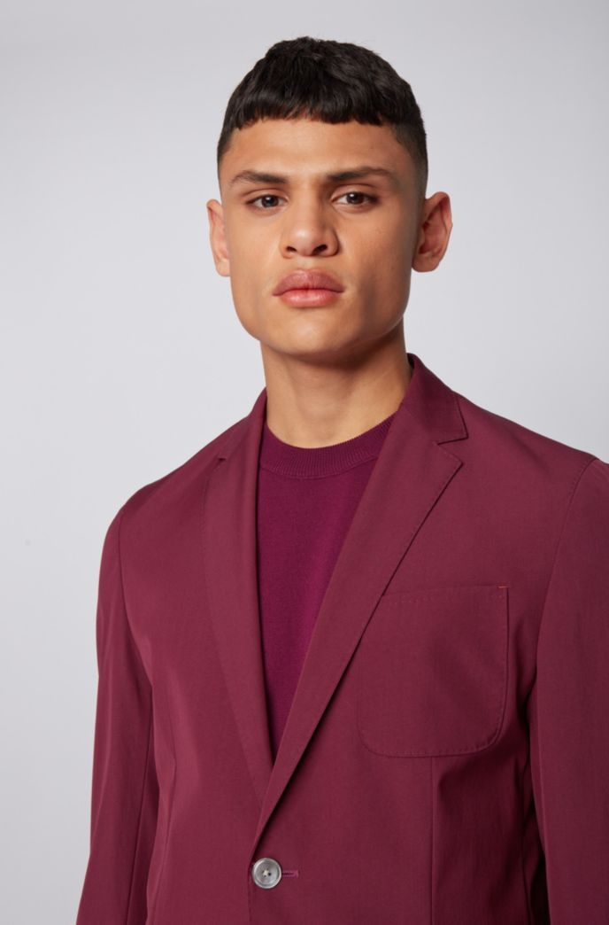 Slim-fit jacket in a stretch-wool blend