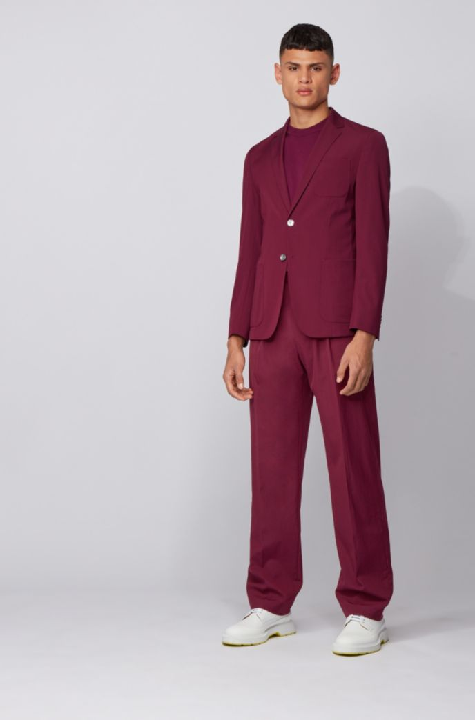 Relaxed-fit trousers in a stretch-wool blend