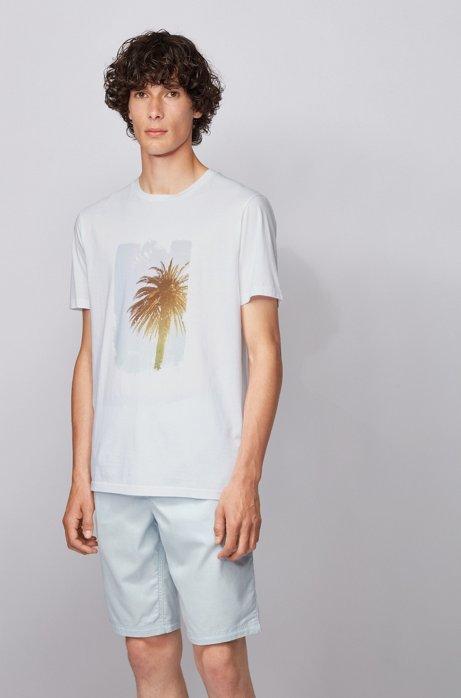 T-Shirt aus Jersey mit Foto-Print aus der Kollektion, Weiß
