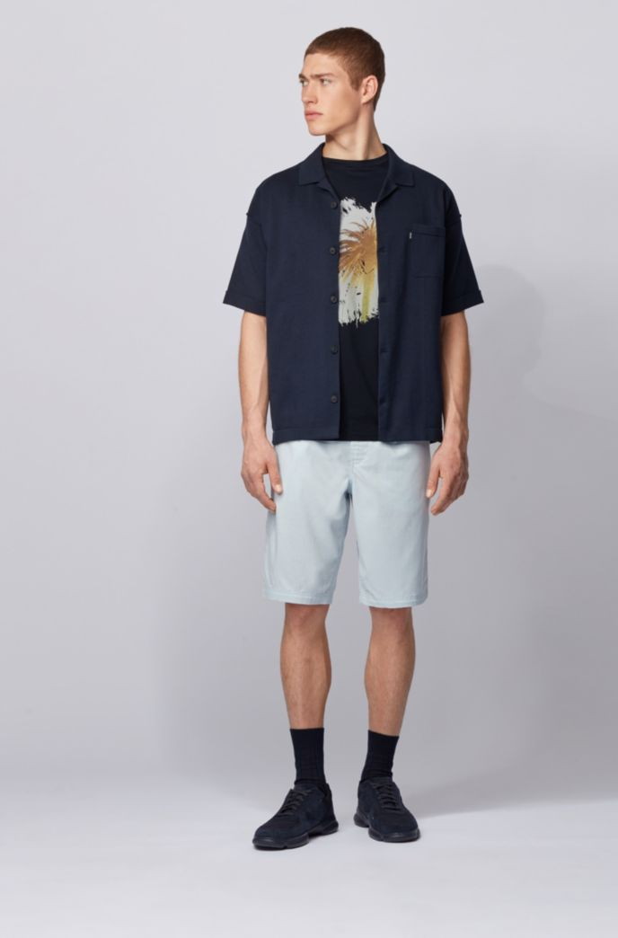 Pima-cotton T-shirt with collection-themed photographic print