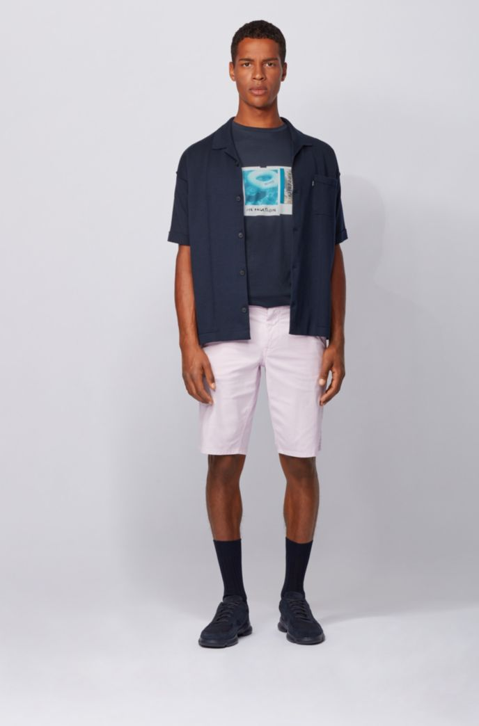 Camiseta de algodón Pima con estampado fotográfico de la colección