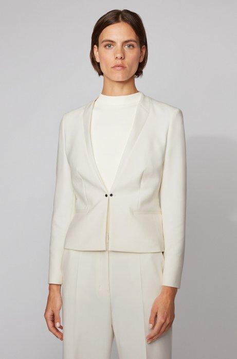 Giacca regular fit con chiusura anteriore stile gemello, Bianco