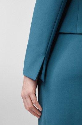 Giacca regular fit con chiusura anteriore stile gemello, Blu scuro