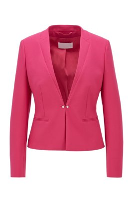 Regular-fit jacket with cufflink-style front closure, Pink