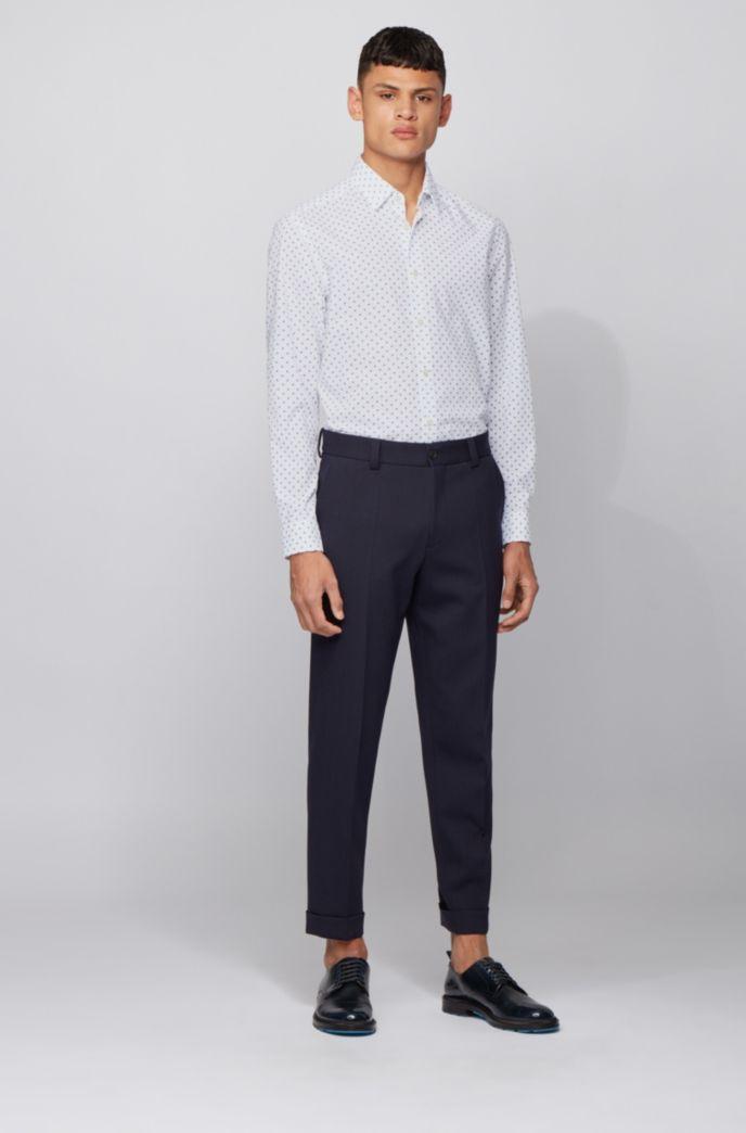 Regular-Fit Hemd aus bedrucktem Baumwoll-Voile