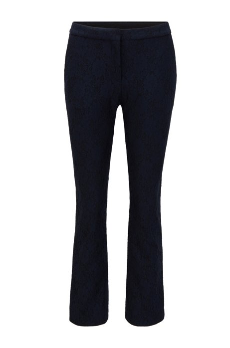 Pantalon raccourci Regular Fit en dentelle à fleurs, Bleu vif