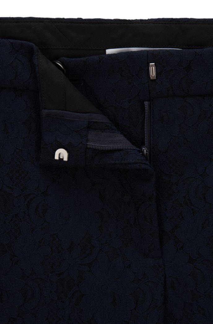Pantalon raccourci Regular Fit en dentelle à fleurs