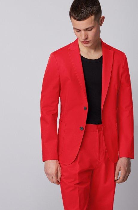 Chaqueta slim fit de algodón elástico, Rojo