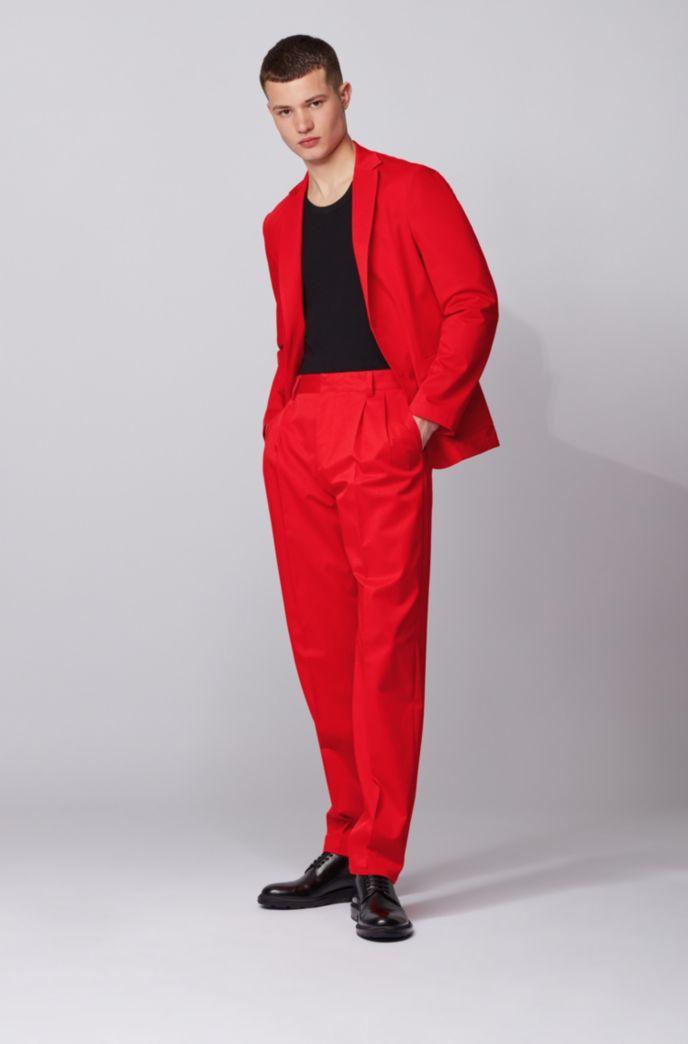 Relaxed-Fit Hose aus elastischer Baumwolle mit Falten