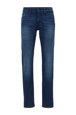Regular-fit jeans van donkerblauw super-stretchdenim, Donkerblauw