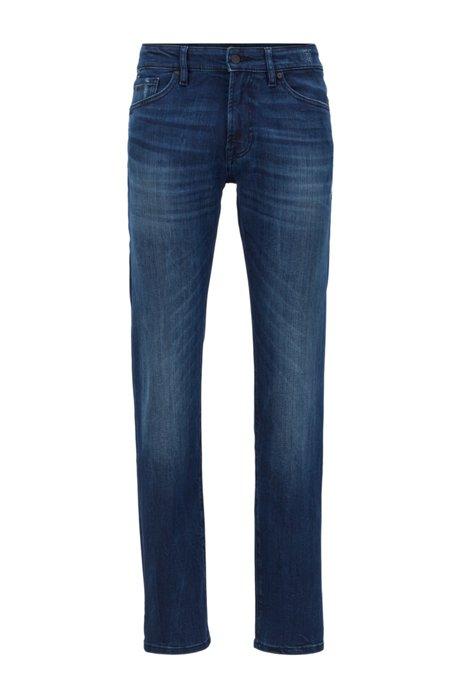 Regular-Fit Jeans aus Super-Stretch-Denim, Dunkelblau