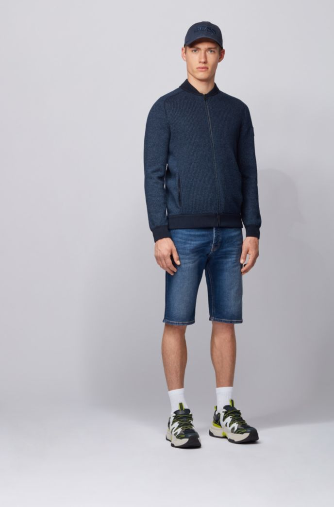 Tapered-fit short van indigo stretchdenim