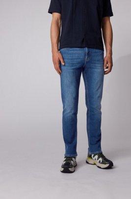 Relaxed-fit jeans van zacht aanvoelend superstretchdenim, Donkerblauw