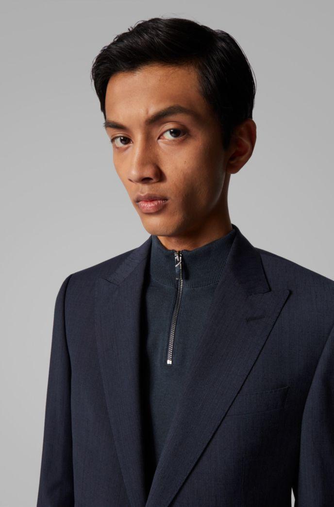 Slim-fit pak van gemêleerde scheerwol