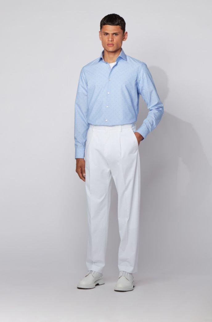 Regular-Fit Hemd aus bügelfreier Fil-coupé-Baumwolle