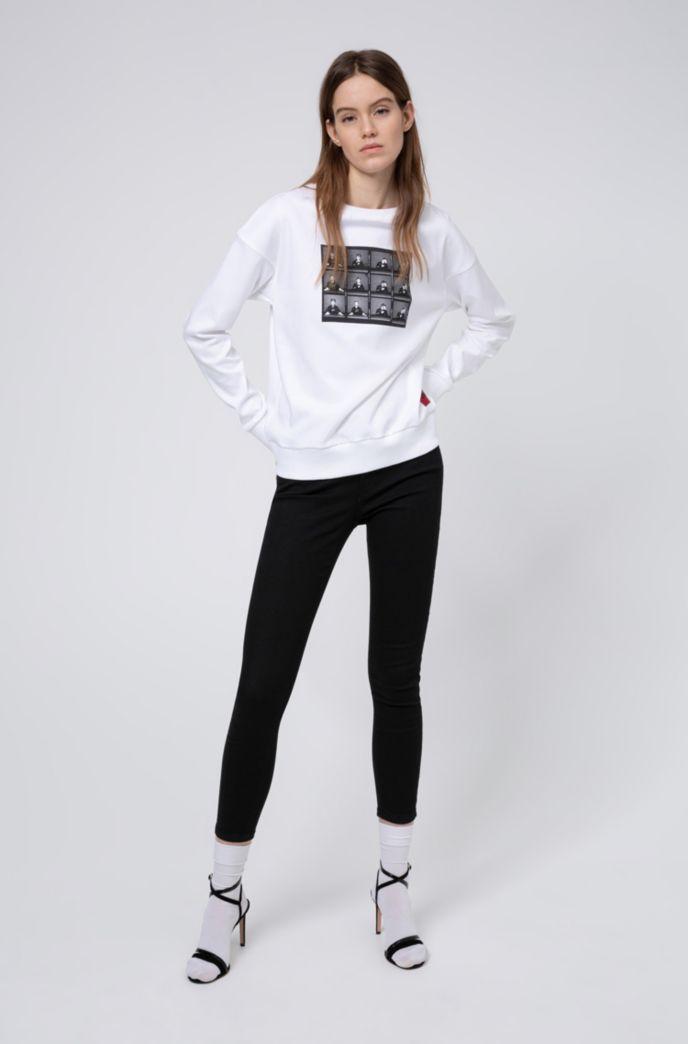 Sweatshirt aus Baumwolle mit Print aus der Kollektion