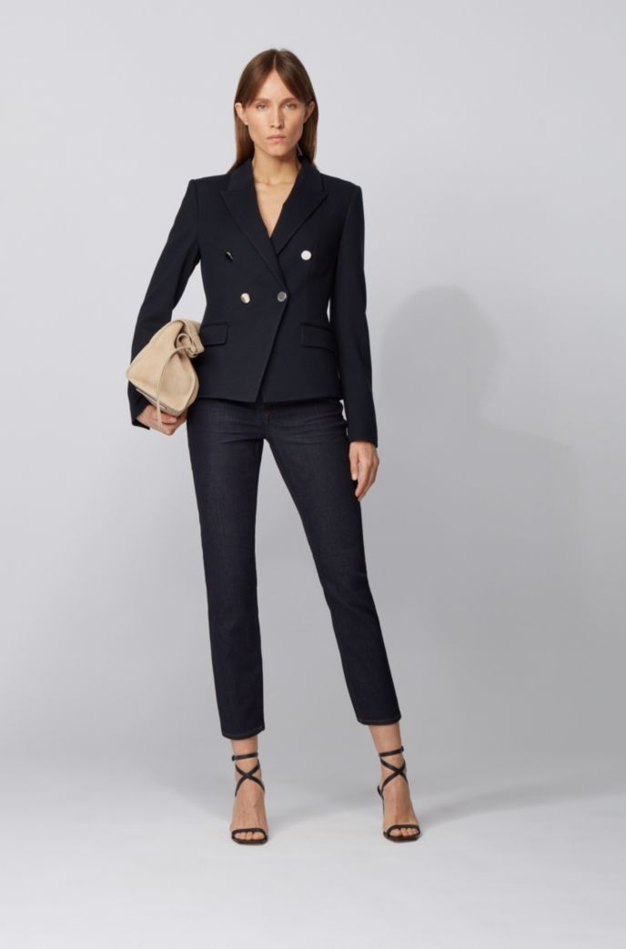 Slim-fit jeans in indigo comfort-stretch denim