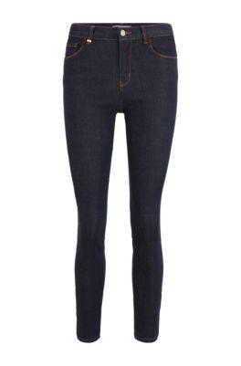 Jean Skinny Fit en denim stretch bleu profond, Bleu foncé