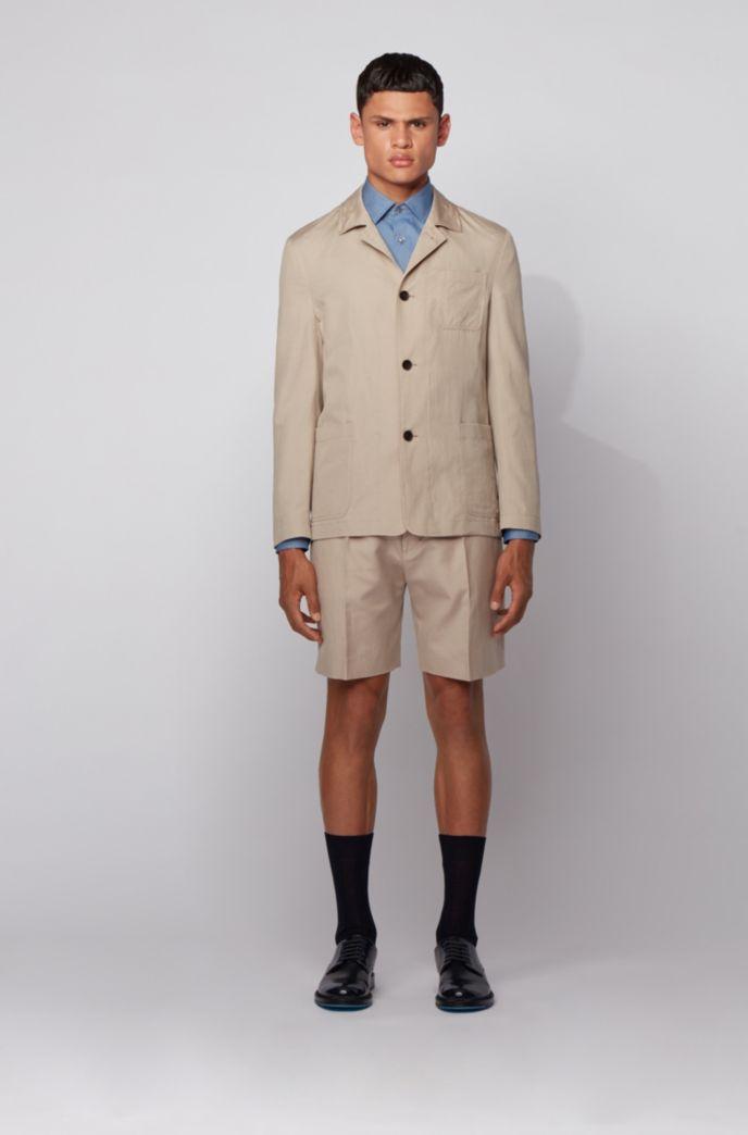 Slim-Fit Hemd aus strukturiertem Baumwoll-Chambray