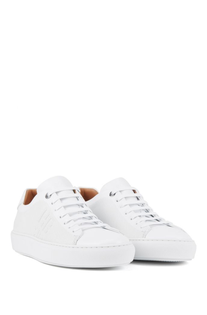 Italian-made trainers in calf leather with monogram detail