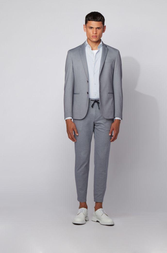 Slim-Fit Hemd aus Oxford-Baumwolle mit filigranem Motiv