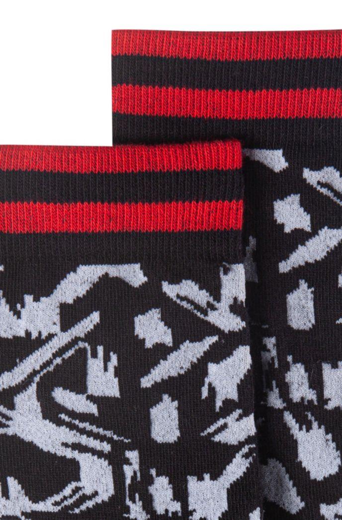 Chaussettes mi-mollet en coton mélangé à motif abstrait