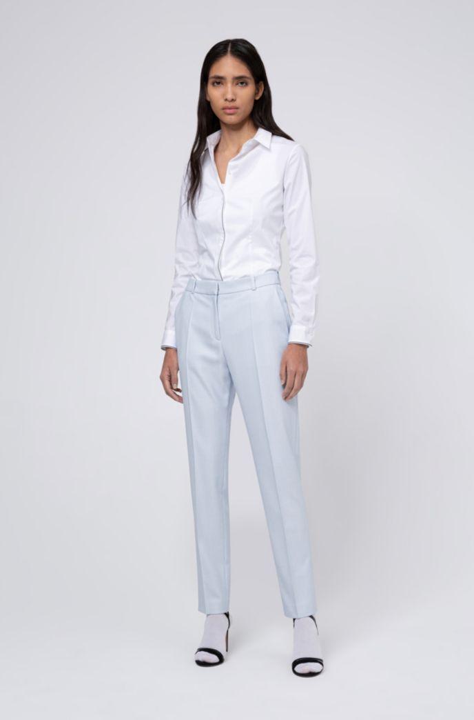 Pantalones pitillo regular fit estampados de tejido elástico